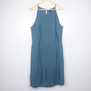 Ann Taylor Silk Blue Spaghetti Strap Dress